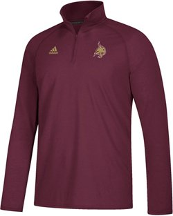 adidas Men's climalite Ultimate Texas State University 1/4 Zip Top