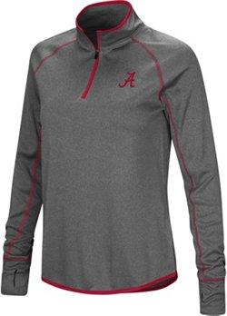 Colosseum Athletics Women's University of Alabama Shark 1/4 Zip Windshirt