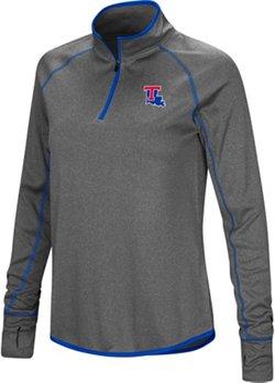 Colosseum Athletics Women's Louisiana Tech University Shark 1/4 Zip Windshirt