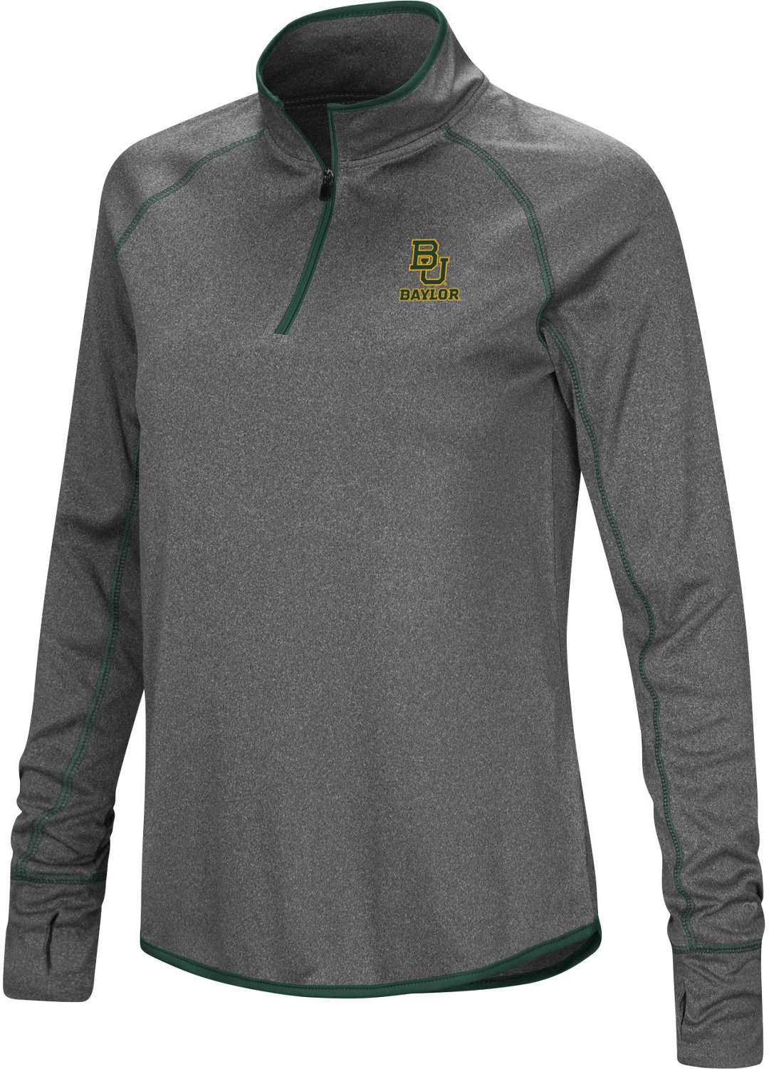 Colosseum Athletics Women's Baylor University Shark 1/4 Zip Windshirt