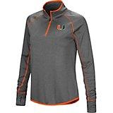 Colosseum Athletics Women's University of Miami Shark 1/4 Zip Windshirt