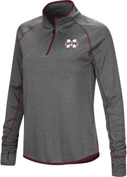 Colosseum Athletics Women's Mississippi State University Shark 1/4 Zip Windshirt