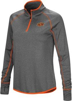 Colosseum Athletics Women's Oklahoma State University Shark 1/4 Zip Windshirt