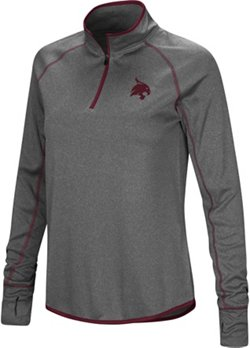 Colosseum Athletics Women's Texas State University Shark 1/4 Zip Windshirt