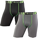 Champion Men's Tech Performance Long Leg Boxer Briefs 2-Pack
