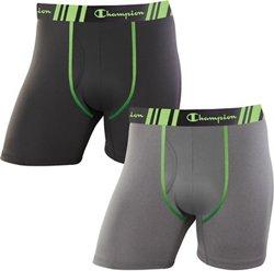 Champion Men's Tech Performance Regular Leg Boxer Briefs 2-Pack