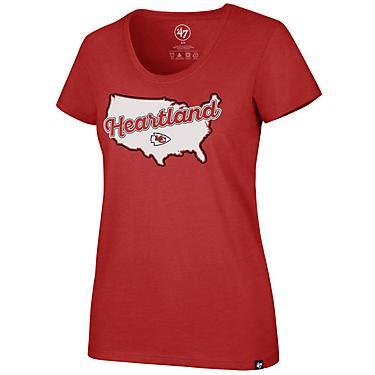 size 40 79124 de0b8 '47 Kansas City Chiefs Women's Heartland Scoop Neck T-shirt