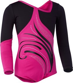 Capezio Girls' Future Star Elite Asymmetrical Long Sleeve Leotard