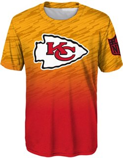 NFL Boys' Kansas City Chiefs Propulsion Sublimated Dri-Tek T-shirt