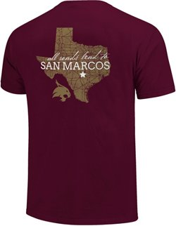 Image One Men's Texas State University All Roads Lead Comfort Color T-shirt