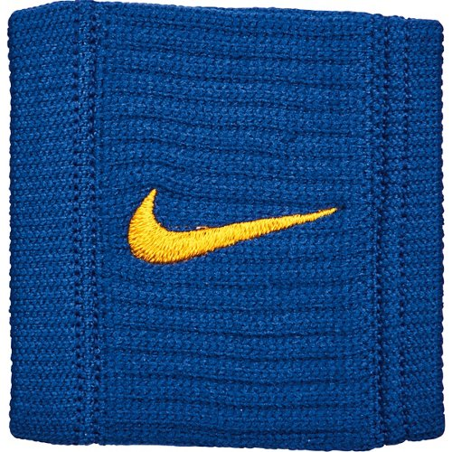 Nike Dri-FIT Reveal Wristbands Rush Blue/Amarillo - Basketball Accessories at Academy Sports