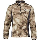 Browning Men's Phase 1/4-Zip Camo Top
