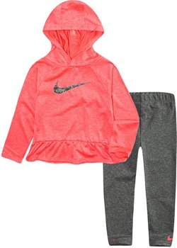 Nike Girls' Dri-FIT Heathered Top and Leggings Set
