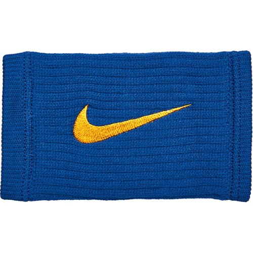 Nike Reveal Doublewide Wristbands 2-Pack Rush Blue/Amarillo - Basketball Accessories at Academy Sports