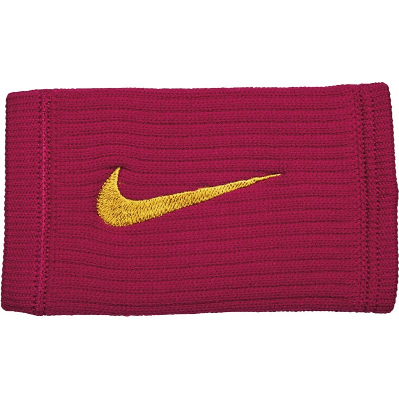 Nike Reveal Doublewide Wristbands 2-Pack Red Crush/Dark Citron - Basketball Accessories at Academy Sports