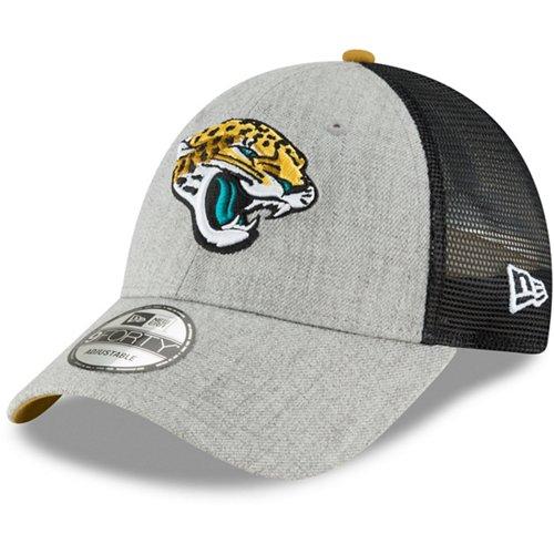 New Era Men's Jacksonville Jaguars 9FORTY Heathered Turn Adjustable Cap