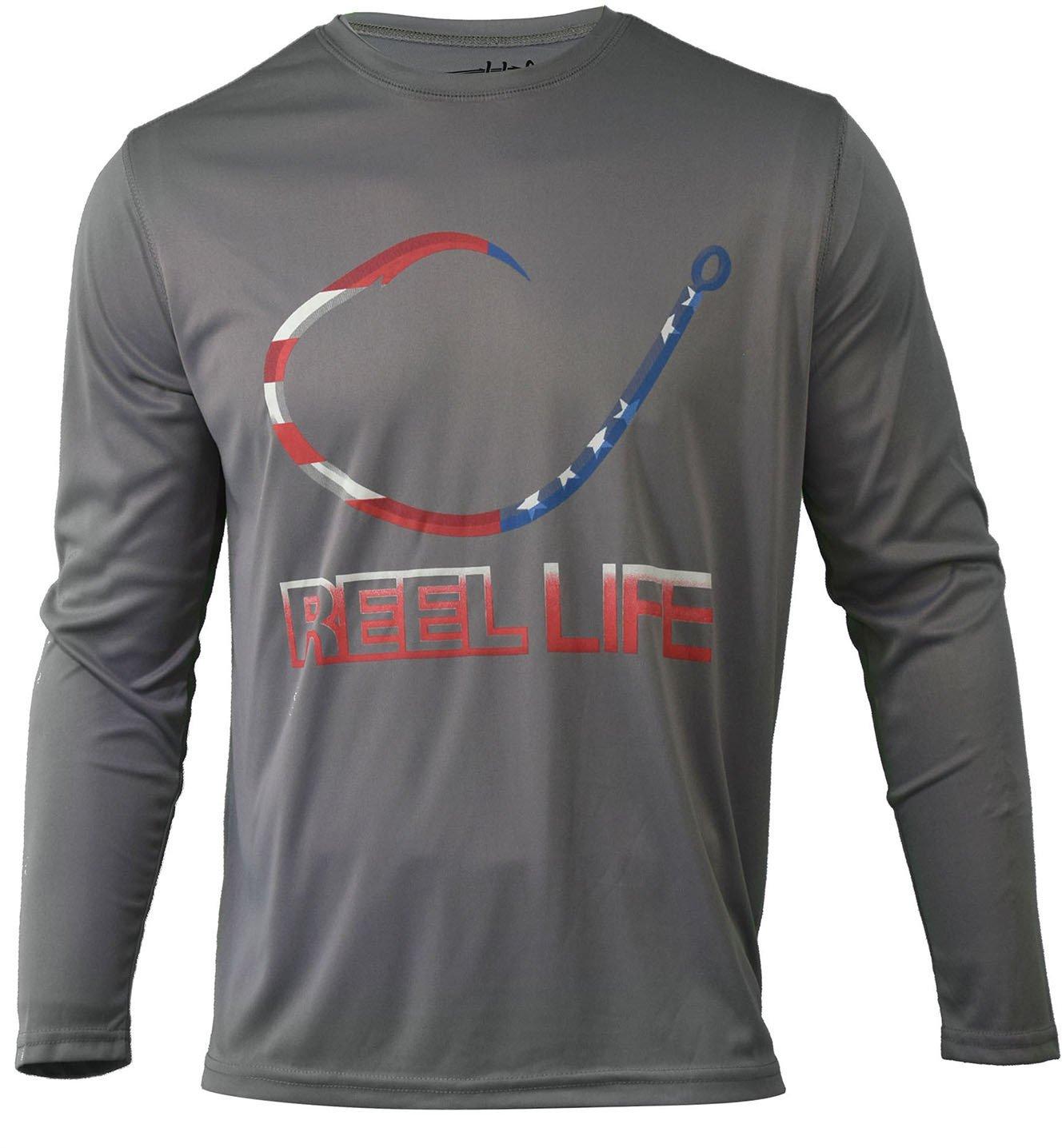 05a3998c Reel Life Men's Freedom Circle Hook Performance UV Fishing Shirt | Academy
