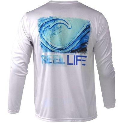 f64c7256 Reel Life Men's Circle Hook Wave Performance UV Shirt | Academy