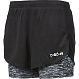 4166909d990 adidas Girls  2-in-1 Space Dye Mesh Shorts