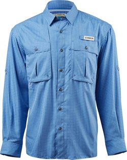 Magellan Outdoors Men's Aransas Pass Window Check Long Sleeve Fishing Shirt
