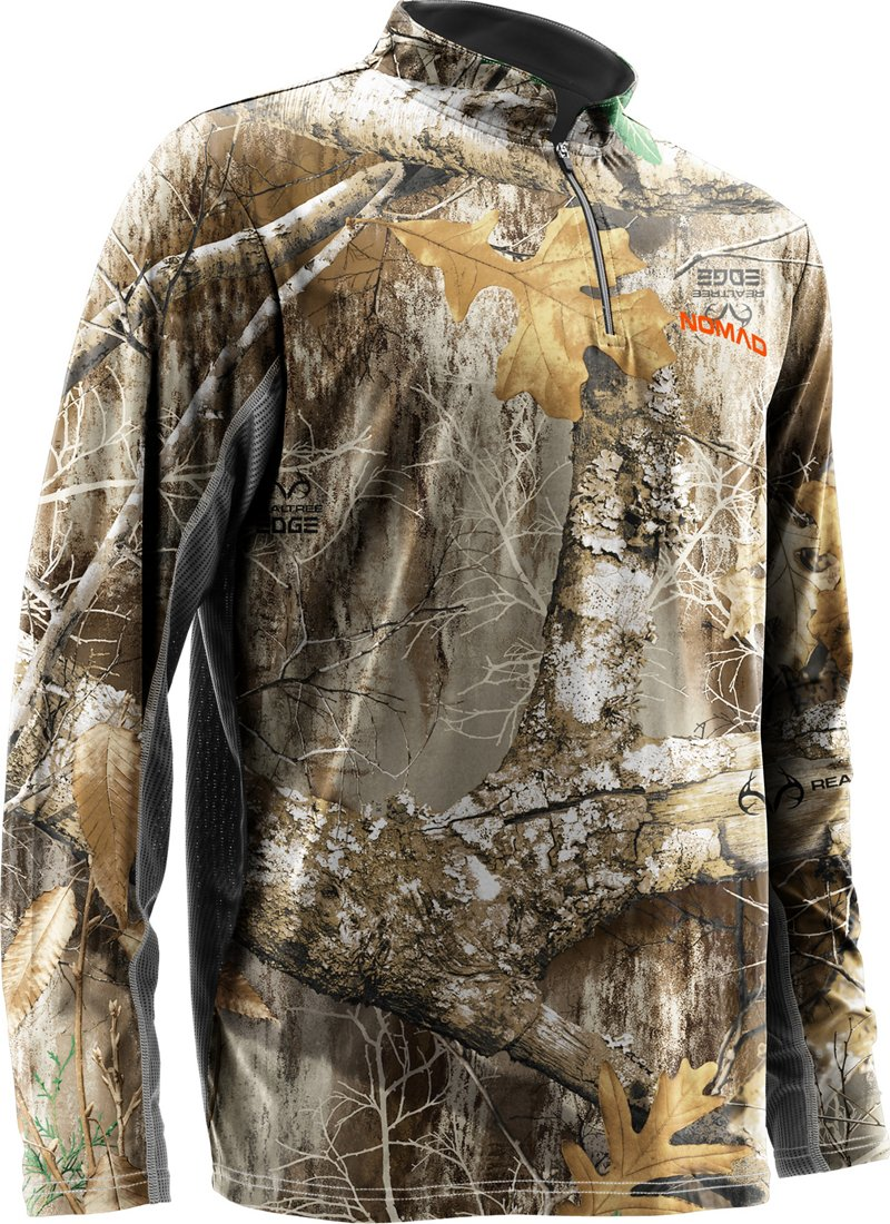 Nomad Men's Cooling Quarter Zip Camo Top - Camo Clothing, Adult Insulated Camo at Academy Sports