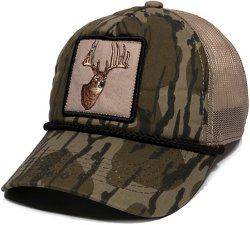 Men's Buck Head Mesh Back Camo Cap