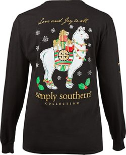 Simply Southern Women's Christmas Joy Long Sleeve T-shirt