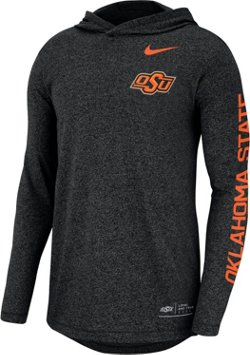 Nike Men's Oklahoma State University Marled Long Sleeve Hooded T-shirt