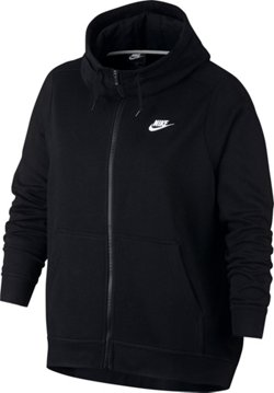 Nike Women's Plus Size Funnel-Neck Full-Zip Fleece Hoodie