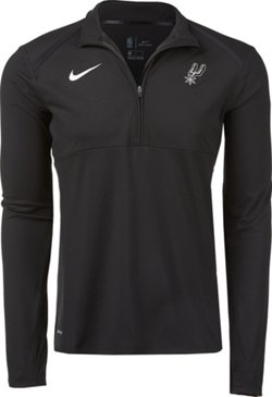 Nike Men's San Antonio Spurs Dry Element 1/2 Zip Top