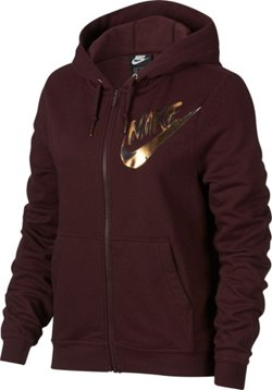 Nike Women's Sportswear Full Zip Metallic Hoodie