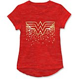 Warner Bros. Girls' Wonder Woman Foil Logo Short Sleeve T-shirt