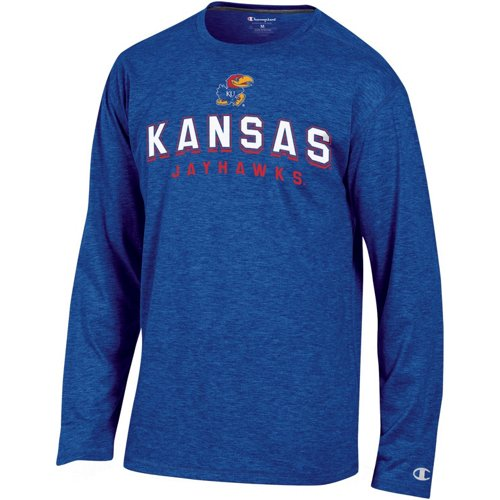 Champion Men's University of Kansas In Pursuit Long Sleeve T-shirt
