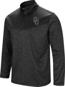 Colosseum Athletics Men's University of Oklahoma Cougars Blackout 1/4 Zip Fleece