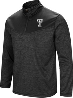Colosseum Athletics Men's Texas Tech University Cougars Blackout 1/4 Zip Fleece