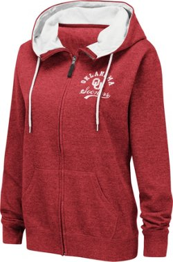 Colosseum Athletics Women's University of Oklahoma Abyss Full Zip Hoodie