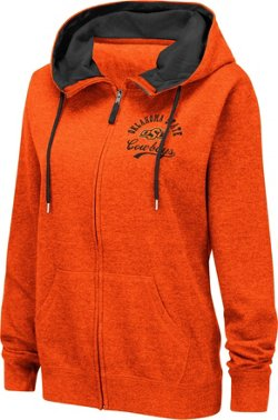 Colosseum Athletics Women's Oklahoma State University Abyss Full Zip Hoodie