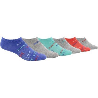 3c4cd9687b14 adidas Kids  Superlite Three Stripe Life No-Show Socks 6 Pack