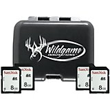 Wildgame Innovations SD Card Holder with Four 8GB SD Cards