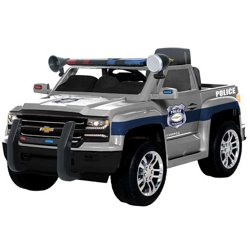 6V Ride-On Chevy Silverado Police Truck
