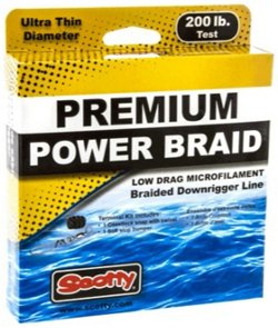 Scotty 200 lb Test 400 ft Premium Braided Downrigger Line