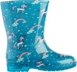 Girls' Unicorn Light Rain Boots