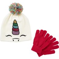 Magellan Outdoors Girls' Sparkle Critter Beanie and Glove Set