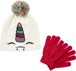 Girls' Sparkle Critter Beanie and Glove Set