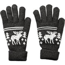 Men's Fireside Moose Stripe Gloves