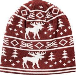 Men's Fireside Moose Stripe Beanie