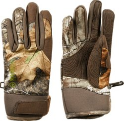 Boys' Mesa Softshell Camo Shooting Gloves