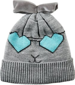Girls' Sequin Panda Critter Beanie