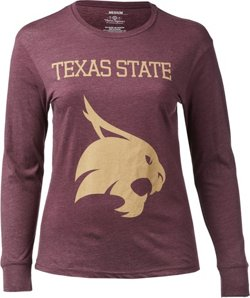 Three Squared Women's Texas State University Fight Song Melange T-shirt