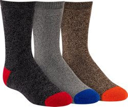 Magellan Outdoors Boys' Marled Crew Socks 3 Pack